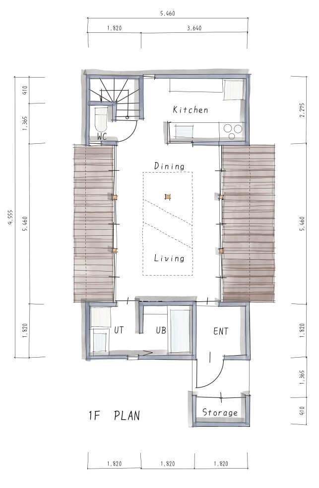 Do-Ma日進モデルハウス間取り図1F